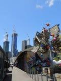 Construction de bâtiments à Melbourne Image libre de droits