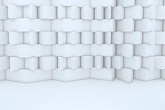 Construction de bâtiments blanche abstraite Photo stock