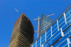 Construction de bâtiments d'affaires images stock