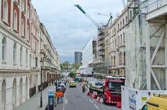 Construction de bâtiments dans la ville Photographie stock libre de droits