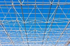 Construction de bâtiments de cadre d'acier en métal Photo libre de droits