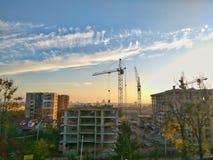 Construction de bâtiments en cours photos stock