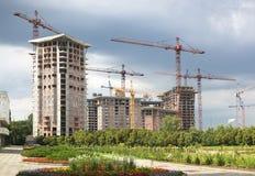 Construction de bâtiments moderne Image stock