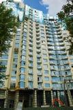 Construction de bâtiments moderne de multi-appartements Photos stock