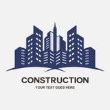 Construction de bâtiments moderne de ville illustration stock