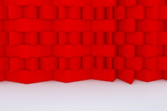 Construction de bâtiments rouge abstraite Photographie stock libre de droits