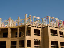Construction de bâtiments urbaine Images stock