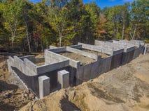 Construction de base de nouvelle maison Photographie stock