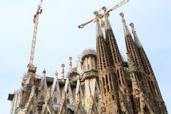 Construction de basilique Sagrada Familia photos libres de droits