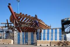 Construction de bateau de pêche Images libres de droits