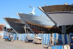 Construction de bateau de pêche Photographie stock libre de droits