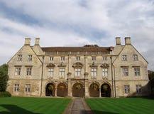 Construction de bibliothèque d'université à Cambridge Images libres de droits