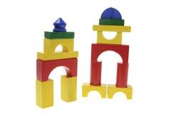 construction de blocs en bois Photographie stock libre de droits