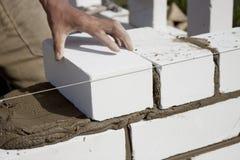 Construction de brique Photos libres de droits
