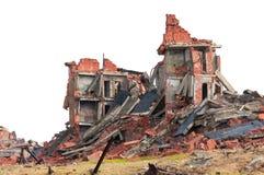 Construction de brique ruinée Photographie stock libre de droits