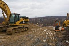 Construction de canalisation Photographie stock