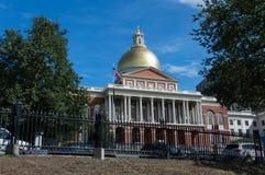 Construction de capitale de l'État du Massachusetts, Boston Photos stock