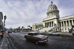 Construction de capitol à La Havane, Cuba Image stock