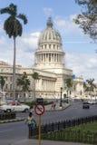 Construction de capitol à La Havane, Cuba Photographie stock