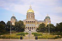 Construction de capitol d'état à Des Moines Photos stock