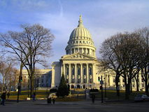 Construction de capitol d'état à Madison, le Wisconsin Photographie stock
