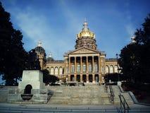Construction de capitol d'état de l'Iowa images stock