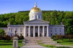 Construction de capitol d'état du Vermontn à Montpelier images libres de droits
