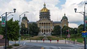 Construction de capitol d'état de l'Iowa image libre de droits