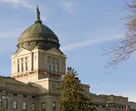 Construction de capitol d'état du Montana Images libres de droits