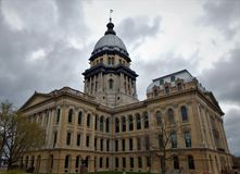 Construction de capitol d'?tat de l'Illinois photo stock