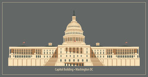 Construction de capitol dans le Washington DC illustration stock
