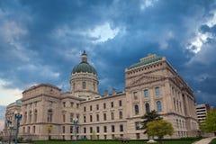 Construction de capitol de l'Indiana. photo stock