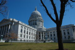 Construction de capitol du Wisconsin Photos stock