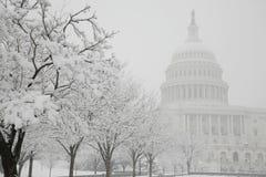 Construction de capitol, l'hiver, Washington, C.C, Etats-Unis Photo libre de droits