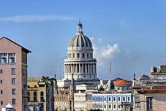 Construction de capitol national à La Havane, Cuba Photos stock