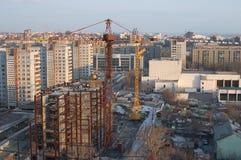 Construction de centre d'affaires images stock