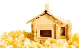Construction de Chambre Les travaux du menuisier L'en bois Image libre de droits