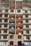Construction de Chambre - murs de maçonnerie Photos stock