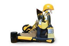 Construction de chaussure avec des outils Photo libre de droits