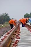 Construction de chemin de fer d'apparaux de mouillage. images libres de droits