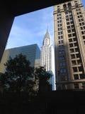 Construction de Chrysler, New York Image stock