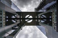 Construction de ciel d'Umeda à Osaka, Japon Images libres de droits