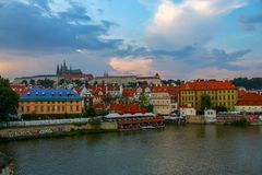 Construction de déplacement, historique, Prague photographie stock libre de droits