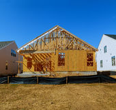 Construction de désert de nouvelles maisons Image libre de droits