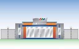 Construction de façade de vecteur Images libres de droits