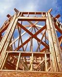 Construction de fenêtre en saillie Photos stock