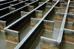 Construction de filtration de l'eau d'évacuation Images libres de droits