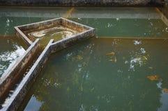 Construction de filtration de l'eau de drainage Images libres de droits