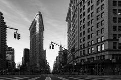 Construction de Flatiron Photos stock