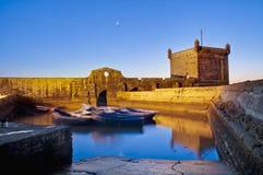 Construction de forteresse de Mogador chez Essaouira, Maroc Photographie stock libre de droits